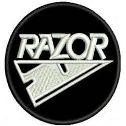 Razor Embroidered Patch (round)