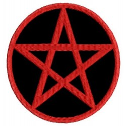 Wicca pentagram symbol Embroidered Patch