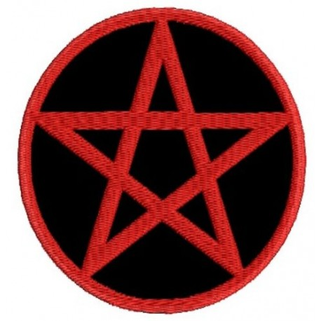 Wicca pentagram Embroidered Patch