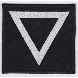 Water symbol triangle point down Embroidered Patch