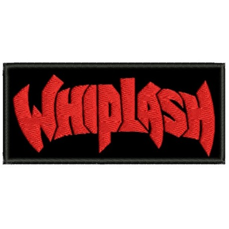Whiplash sew on embroidered Patch