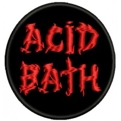 Acid Bath embroidered patch
