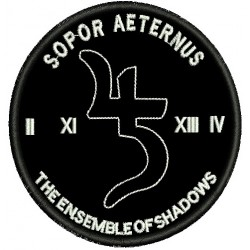 Sopor Aeternus embroidered patch
