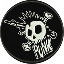 Punk Embroidered Patch