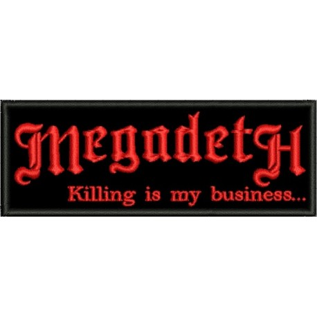 megadeth - killing is my business embroidered Patch