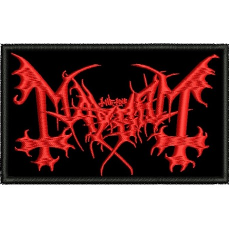 Mayhem embroidered sew on patch black metal Metal Negro
