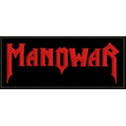 Manowar embroidered sew on patch  Metal Negro
