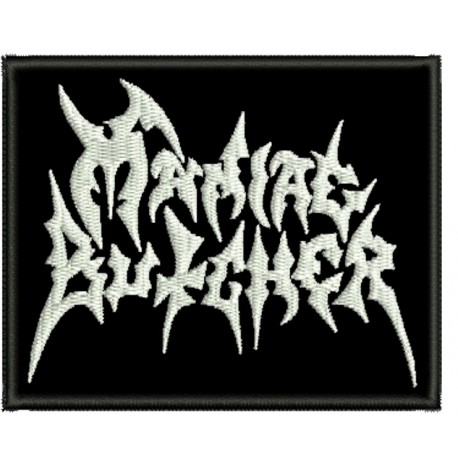 Maniac Butcher embroidered sew on patch  Metal Negro