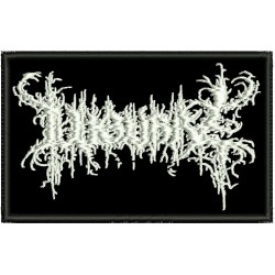 Lugubre embroidered sew on patch  Metal Negro