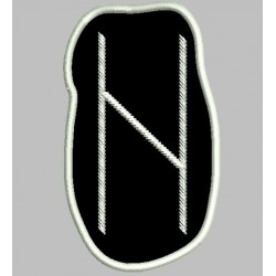 Rune Hagalaz embroidered Patch
