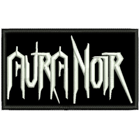 Aura Noir embroidered sew on patch  Metal Negro