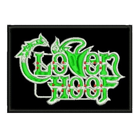 Cloven Hoof embroidered sew on patch  Metal Negro