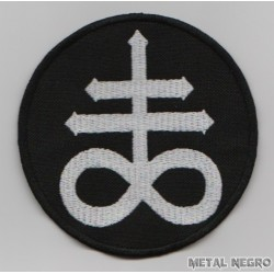 Sulfur Satanic Cross Leviathan Brimstone Sigil Embroidered Patch