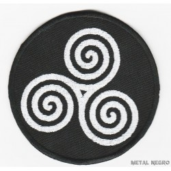 Triple spiral triskele Embroidered Patch