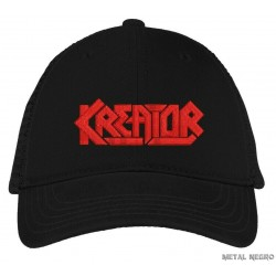 Kreator embroidered black cap hook and loop closure hat
