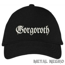 Gorgoroth embroidered black cap hook and loop closure hat