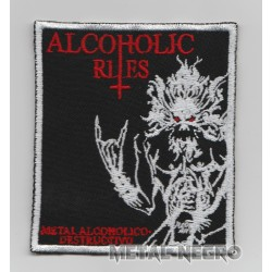 Alcoholic Rites Metal alcoholico destructivo Embroidered Patch