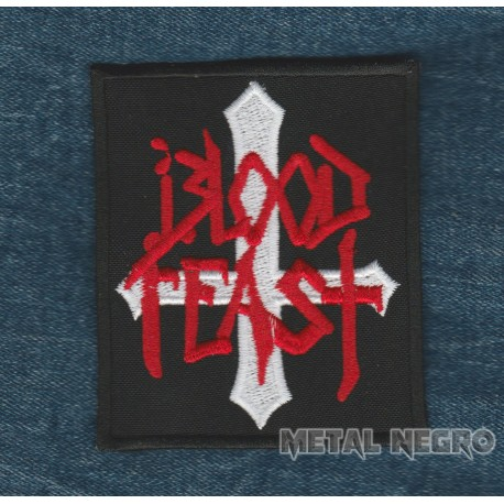 Blood feast logo embroidered patch