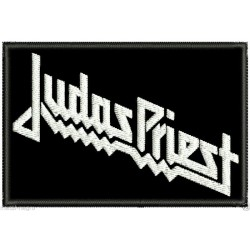 Judas Priest embroidered patch (white logo)