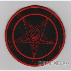 Baphomet red embroidered patch