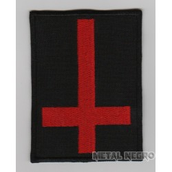 Inverted cross embroidered patch