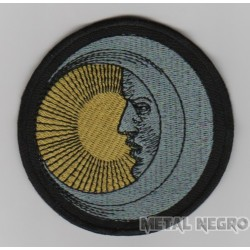 Eclipse sun moon embroidered patch