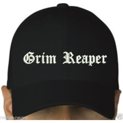 Grim Reaper embroidered cap