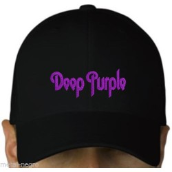 Deep purple embroidered cap