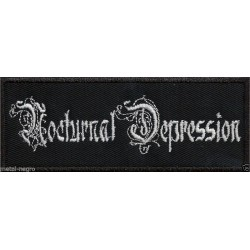 Nocturnal Depression embroidered patch