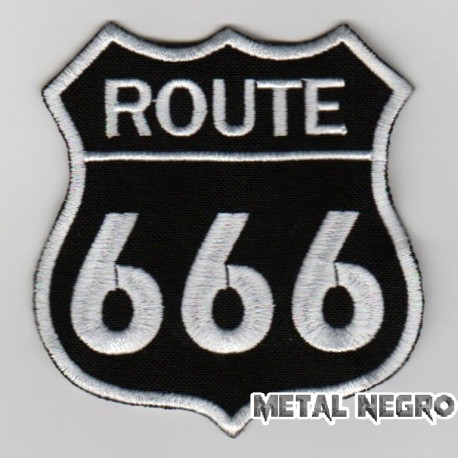 Route embroidered patch