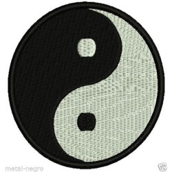 Yin Yang Embroidered Patch