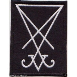 Sigil Seal of Lucifer White Embroidered Patch