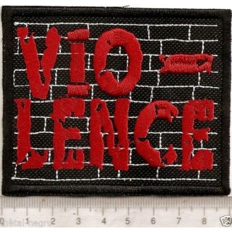Vio-lence embroidered patch