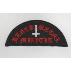 Black Metal Militia Embroidered Patch